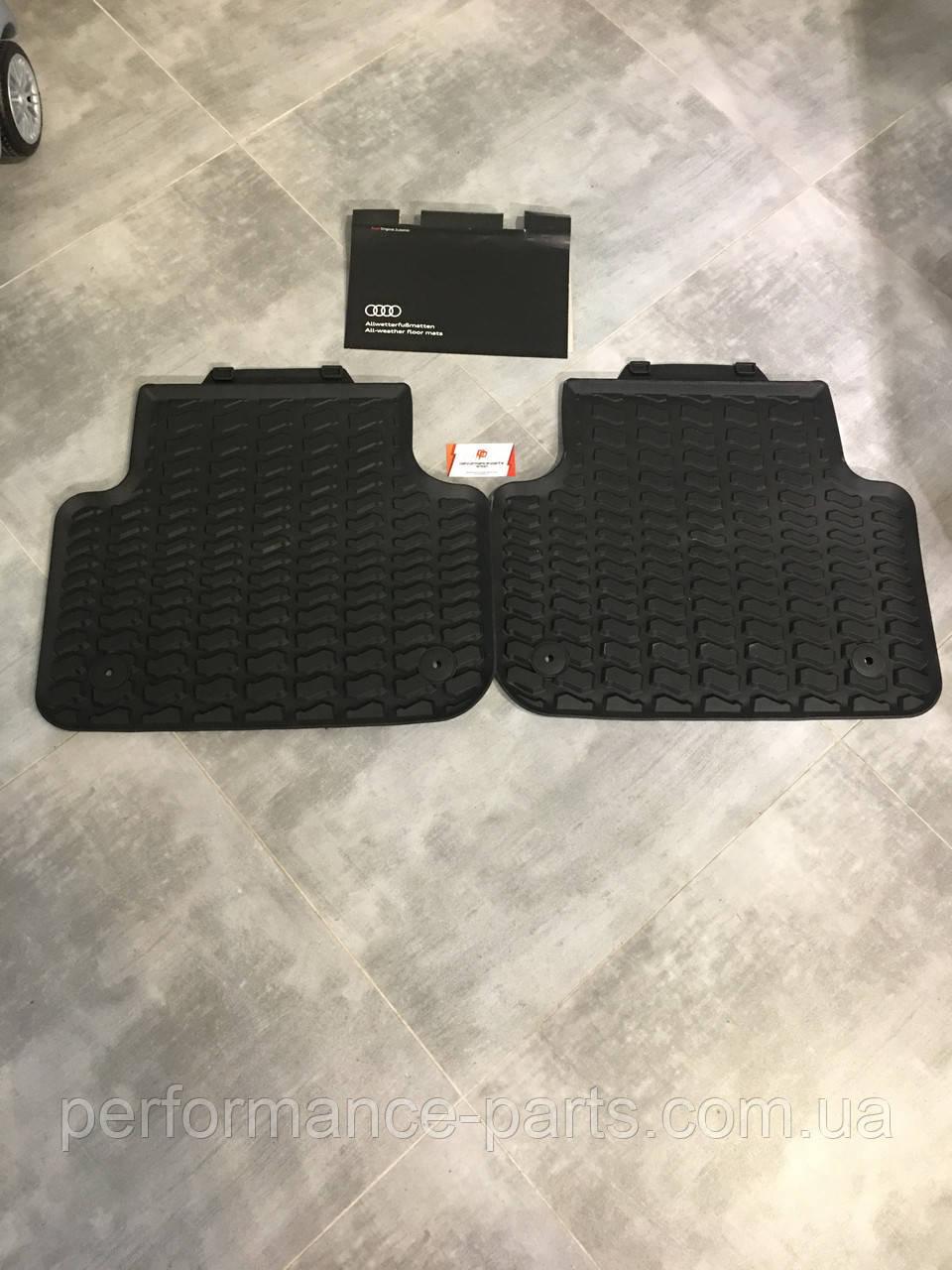 Коврики салона резиновые задние Audi Q8 2019. 4M1061512041. Оригинал.