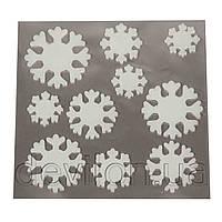 Новогодний витраж на окно - Елка/Снеговик/Снежинки, 20*20 см, арт. 160364
