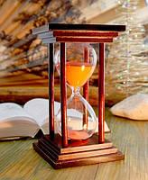 """9290028 Песочные часы """"Квадрат"""" 60 минут Розовый песок"""