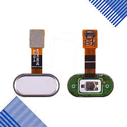 Шлейф для Meizu M5s с внешней кнопкой Home, цвет белый