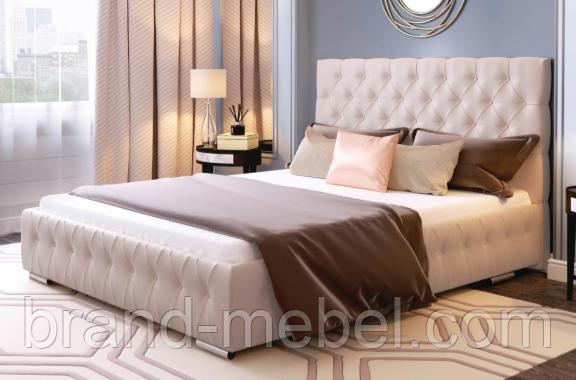 Ліжко двоспальне у м'якій оббивці Арабель / Кровать двуспальная в мягкой обивке Арабель