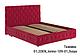 Ліжко двоспальне у м'якій оббивці Арабель / Кровать двуспальная в мягкой обивке Арабель, фото 2