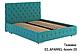 Ліжко двоспальне у м'якій оббивці Арабель / Кровать двуспальная в мягкой обивке Арабель, фото 3