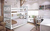Двухъярусная кровать Лея 90х190 см. Мистер Мебл