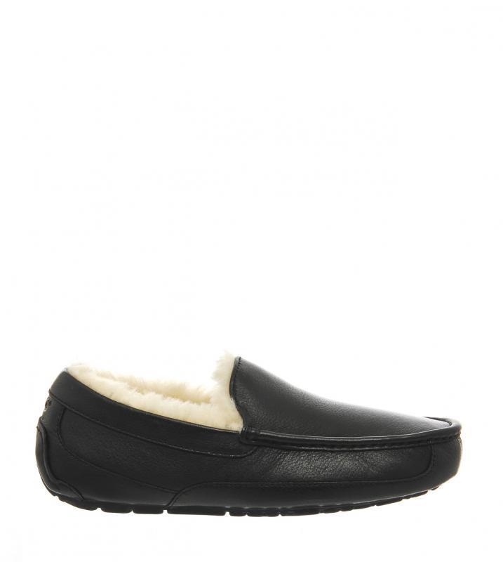 Мужские зимние мокасины Ascot Leather - Black дакота черные