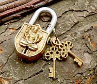 9070053 Замок навесной бронзовый Шива