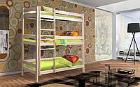 Трехъярусная деревянная кровать Мейвис 80х190 см. Мистер Мебл