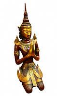 9070139 Статуэтка бронзовая Бирманский Будда