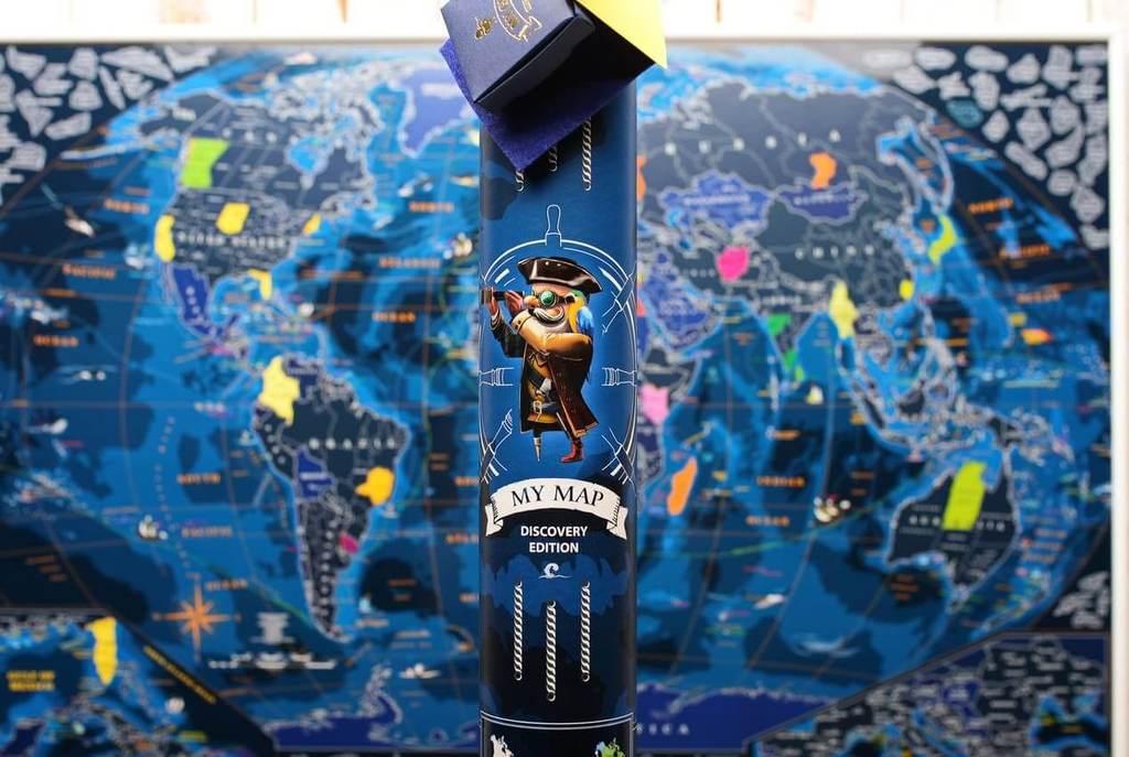 Морская скретч карта мира My Map Discovery edition ENG в тубусе