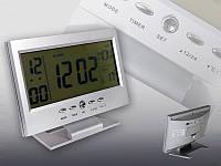 Электронные часы с датчиком температуры voice control backlight lcd clock 8082