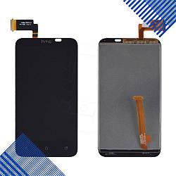 Дисплей HTC Desire VC T328d с тачскрином в сборе, цвет черный