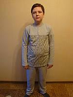 Пижама для мальчиков теплая начесная.