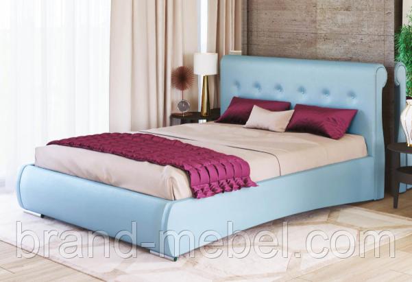 Ліжко двоспальне у м'якій оббивці Олівія / Кровать двуспальная в мягкой обивке Оливия