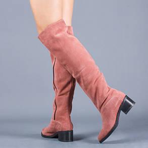 Сапоги женскиена среднем каблуке замшевые выше колена размеры 36-41, фото 2