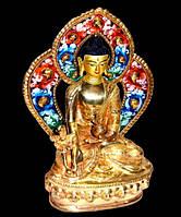 9070127 Статуэтка с позолотой Непал Будда Ратнасамбхава