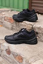Мужские кроссовки Nike Air Monarch черные кожаные , фото 3