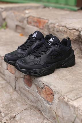 Мужские кроссовки Nike Air Monarch черные кожаные , фото 2