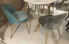 Стул обеденный деревянный мягкий Паркер  PRESTOL, серый, фото 3
