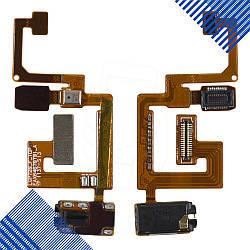 Шлейф для LG Optimus 3D MAX P720, P725 с разъемом для наушников, микрофоном и компонентами