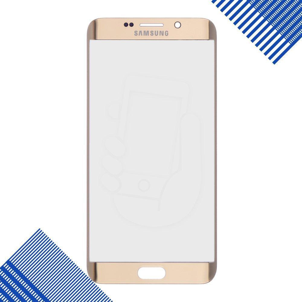 Стекло корпуса для Samsung Galaxy S6 Edge Plus G928, цвет золотой, уценка