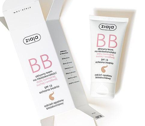 Ziaja BB крем для нормальной кожи, сухой и чувствительной кожи загорелой оттенка