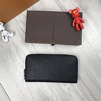 f973c5ca8a20 Брендовый кошелек Louis Vuitton LV черный клатч мужской женский портмоне  кожзам бумажник Луи Виттон реплика