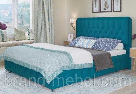 Ліжко двоспальне у м'якій оббивці Беатріс / Кровать двуспальная в мягкой обивке Беатрис