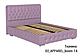 Ліжко двоспальне у м'якій оббивці Беатріс / Кровать двуспальная в мягкой обивке Беатрис, фото 4