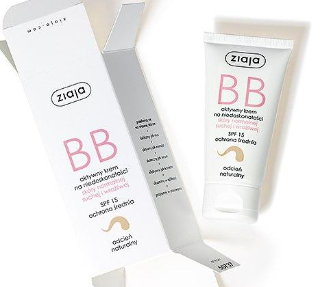 Ziaja BB крем для нормальной кожи, сухой и чувствительной, естественный тон.