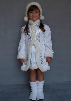 Костюм новогодний для девочки Снегурочка 5-6 лет, фото 2