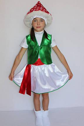 Костюм для девочки на праздник осени и весны Мухомор 3-6 лет, фото 2