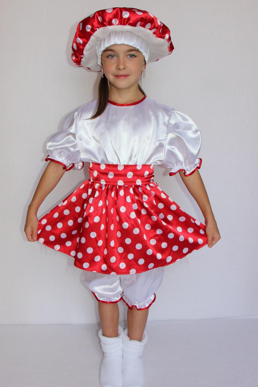 Костюм Мухомора на праздник весны и осени для девочки 3-6 лет
