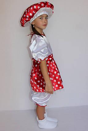 Костюм Мухомора на праздник весны и осени для девочки 3-6 лет, фото 2