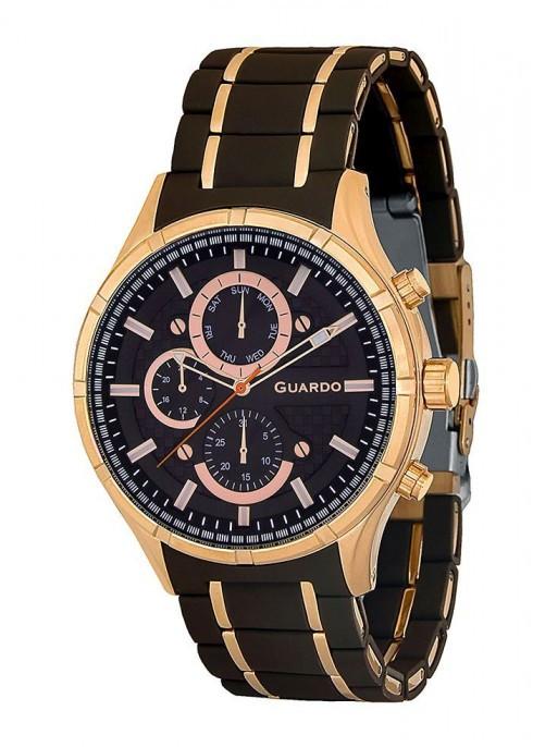 Чоловічі наручні годинники Guardo 011531-6 (m.RgBr)