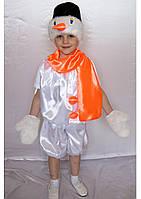 Детский новогодний костюм для мальчика Снеговик 3-6 лет