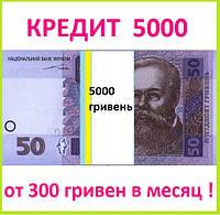 Кредит 5000 гривен без залога, поручителей и справки о доходах