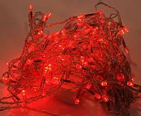 Новогодняя светодиодная гирлянда  500Led красная 38 м для дома и улицы на черном проводе