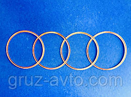Уплотнительное кольцо гильзы медное ГАЗ-53 ГАЗ-24 комплект 4 шт.  / 66-1002024