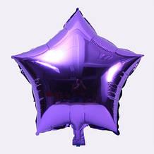 Фольгированный фиолетовый шарик звезда - 20см (без гелия)