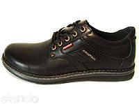 Мужские кожаные туфли Kristan black, фото 1