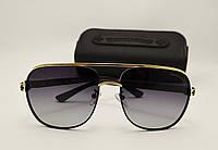 Мужские солнцезащитные очки Chrome Hearts C 5074 Sugar Walls цвет черный с золотом
