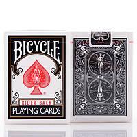 Карты покерные Bicycle Rider Back Black (черные)