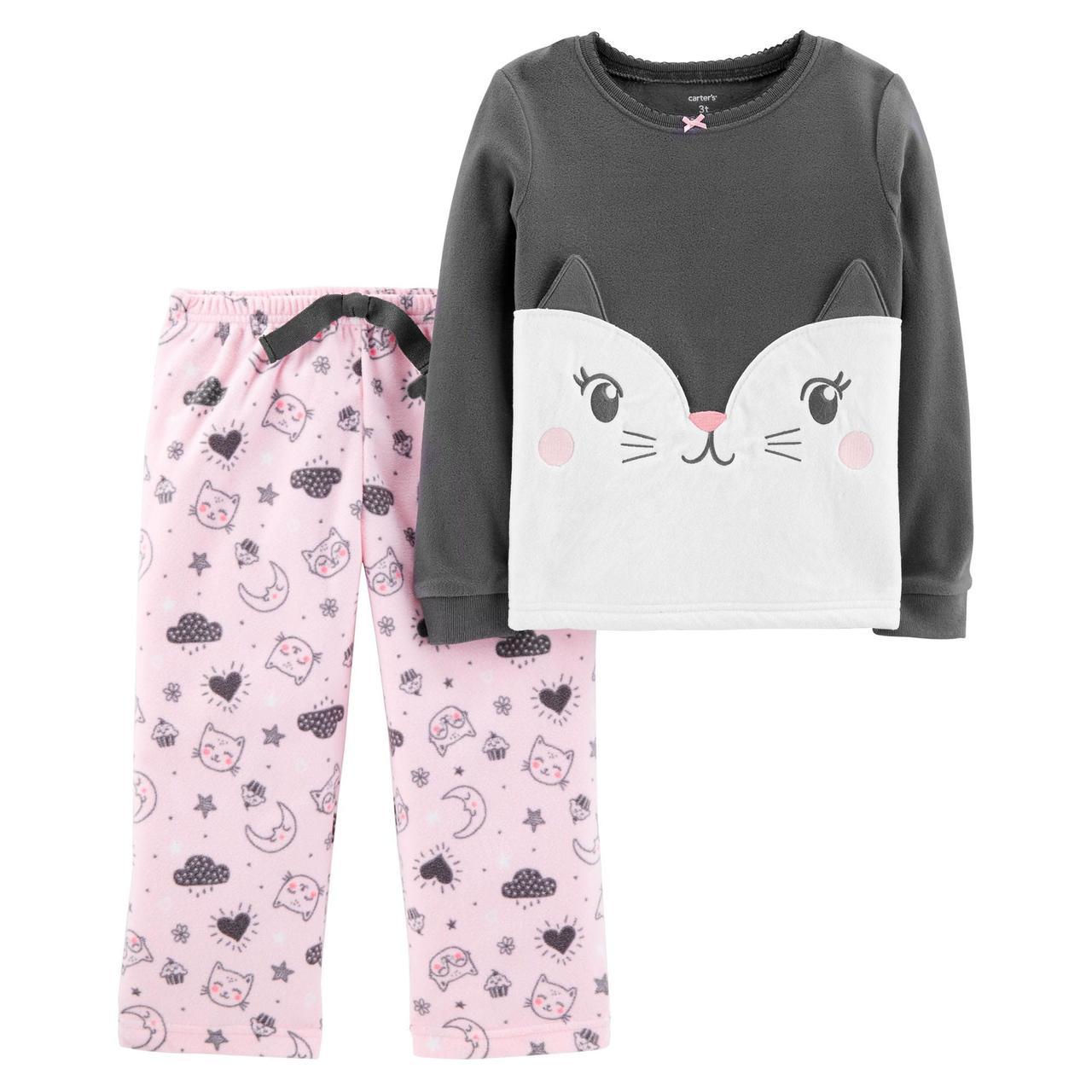 Флисовая пижама Carter's для девочек (CША)