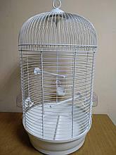 Клетка круглая белая для попугаев JULIA 3 INTER ZOO (Интер Зоо), 35*35*65 см