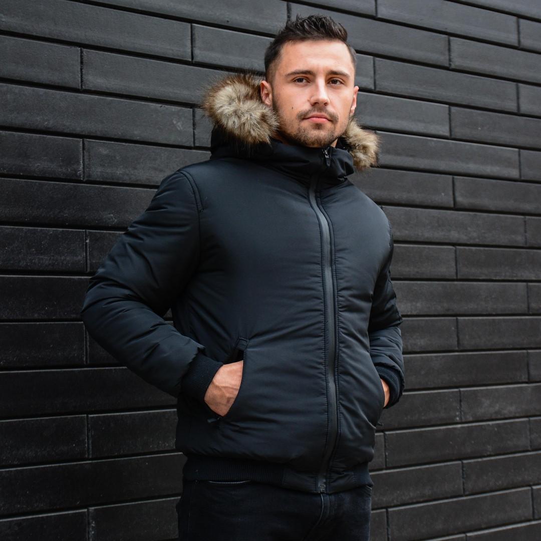 Мужская черная зимняя куртка Jacket winter Alaska (Black), зимняя курточка черная