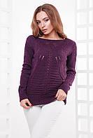 Фиолетовый свитер 21 ТМ MarSe 44-50 размеры