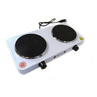 Электрическая плитка настольная Domotec MS-5822 1000W - 2 нагревательные поверхности, 1000863, плитка электрическая, кухонные плиты бытовые