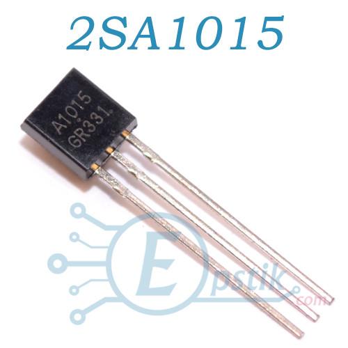 2SA1015, (A1015), транзистор биполярный, PNP 50В 150мА, TO92