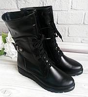 Кожаные высокие ботинки. ОПТ., фото 1