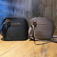Женская мини-сумочка Michael Kors (Майкл Корс), черный/беж, фото 1